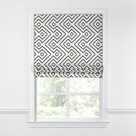 Black & White Diamond Roman Shade