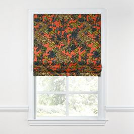 Red Chinoiserie Dragon Roman Shade