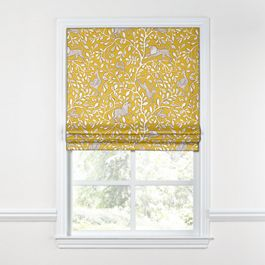 Yellow Animal Motif Roman Shade