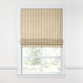 Metallic Gold Stripe Roman Shade