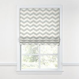 Light Gray Chevron Roman Shade