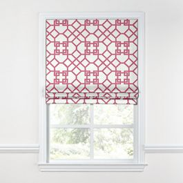 Asian Pink Trellis Roman Shade
