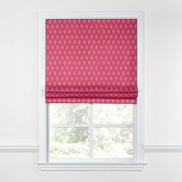 Pink & Orange Diamond Roman Shade