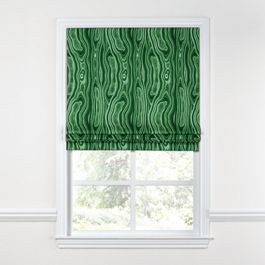 Marbled Green Malachite Roman Shade