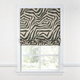 Dark Taupe Zebra Roman Shade