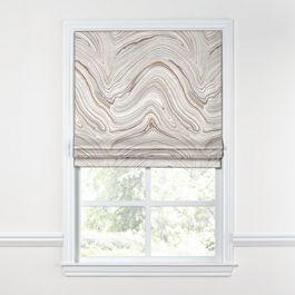 Light Gray Marble Roman Shade