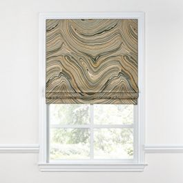 Gold & Black Marble Roman Shade