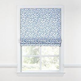 Blue Leopard Print Roman Shade