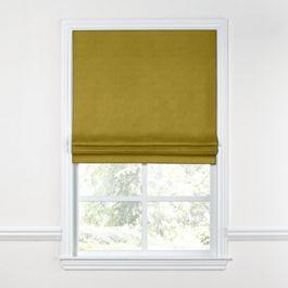 Chartreuse Green Velvet Roman Shade