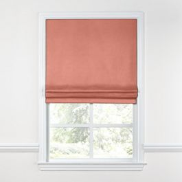Coral Pink Velvet Roman Shade