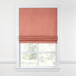 Coral Pink Velvet Roman Shade