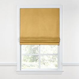 Golden Tan Velvet Roman Shade