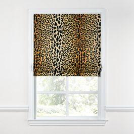 Velvet Leopard Print Roman Shade
