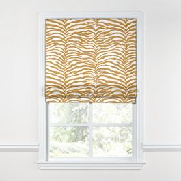 Gold Zebra Print Roman Shade
