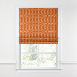 Burnt Orange Diamond Roman Shade