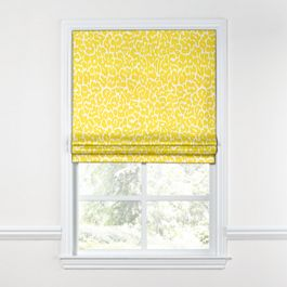 Yellow Leopard Print Roman Shade