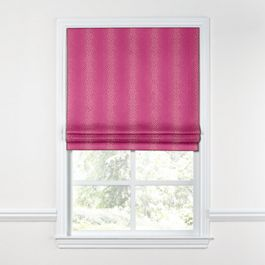 Hot Pink Dotted Stripe Roman Shade