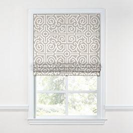Modern Gray Trellis Roman Shade