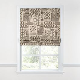 Taupe Tribal Roman Shade