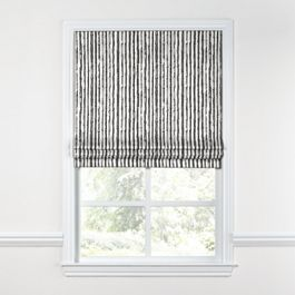 Black & White Bamboo Roman Shade