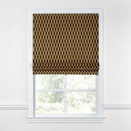 Bronze & Charcoal Diamond Roman Shade