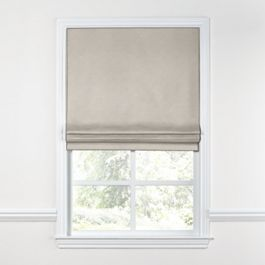 Light Taupe Linen Roman Shade