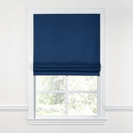 Dark Navy Blue Linen Roman Shade