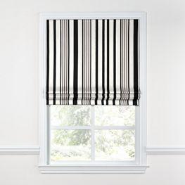 Black & White Stripe Roman Shade