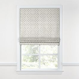 Light Gray Trellis Roman Shade