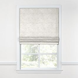 White & Gray Marled Roman Shade