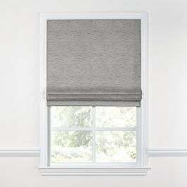 Gray Marled Roman Shade