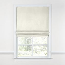 White Sunbrella® Canvas Roman Shade