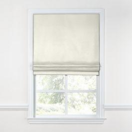 White Sunbrella® Canvas Roman Shade