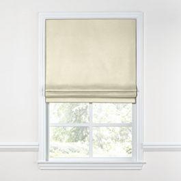 Ivory Sunbrella® Canvas Roman Shade