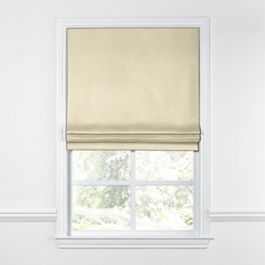 Cream Sunbrella® Canvas Roman Shade