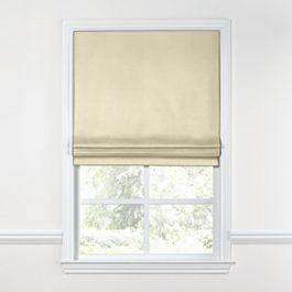 Cream Sunbrella® Canvas Roman Shade