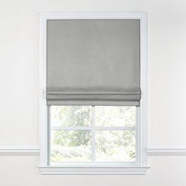Flecked Gray Sunbrella® Canvas Roman Shade
