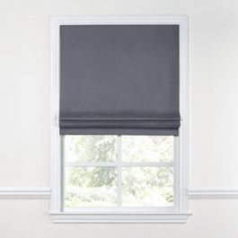 Gray Sunbrella® Canvas Roman Shade