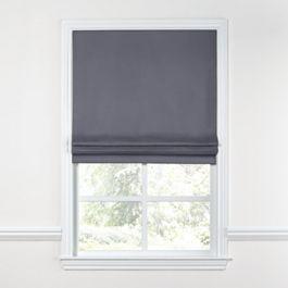 Gray Sunbrella® Canvas Roman Shade