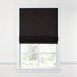Black Sunbrella® Canvas Roman Shade