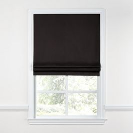 Black Sunbrella® Canvas Roman Shade
