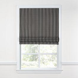 Black & White Thin Stripe  Roman Shade