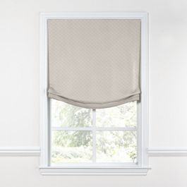Gray Diamond Pintuck Relaxed Roman Shade