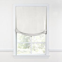White Slubby Linen Relaxed Roman Shade