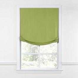 Grass Green Slubby Linen Relaxed Roman Shade