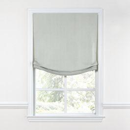 Pale Gray Slubby Linen Relaxed Roman Shade