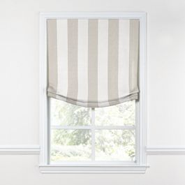Light Beige Awning Stripe Relaxed Roman Shade