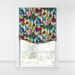 Multicolor Watercolor Relaxed Roman Shade