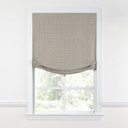 Taupe Geometric Maze Relaxed Roman Shade