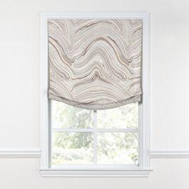 Light Gray Marble Relaxed Roman Shade